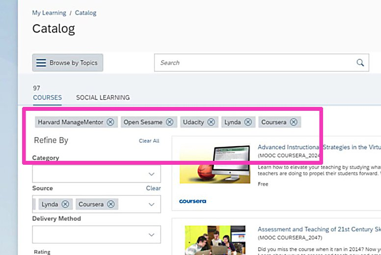 SuccessFactors Learning, la plataforma de capacitación de SAP 4